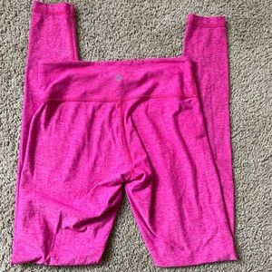 Pink Heathered Lululemon Wunder Under Leggings